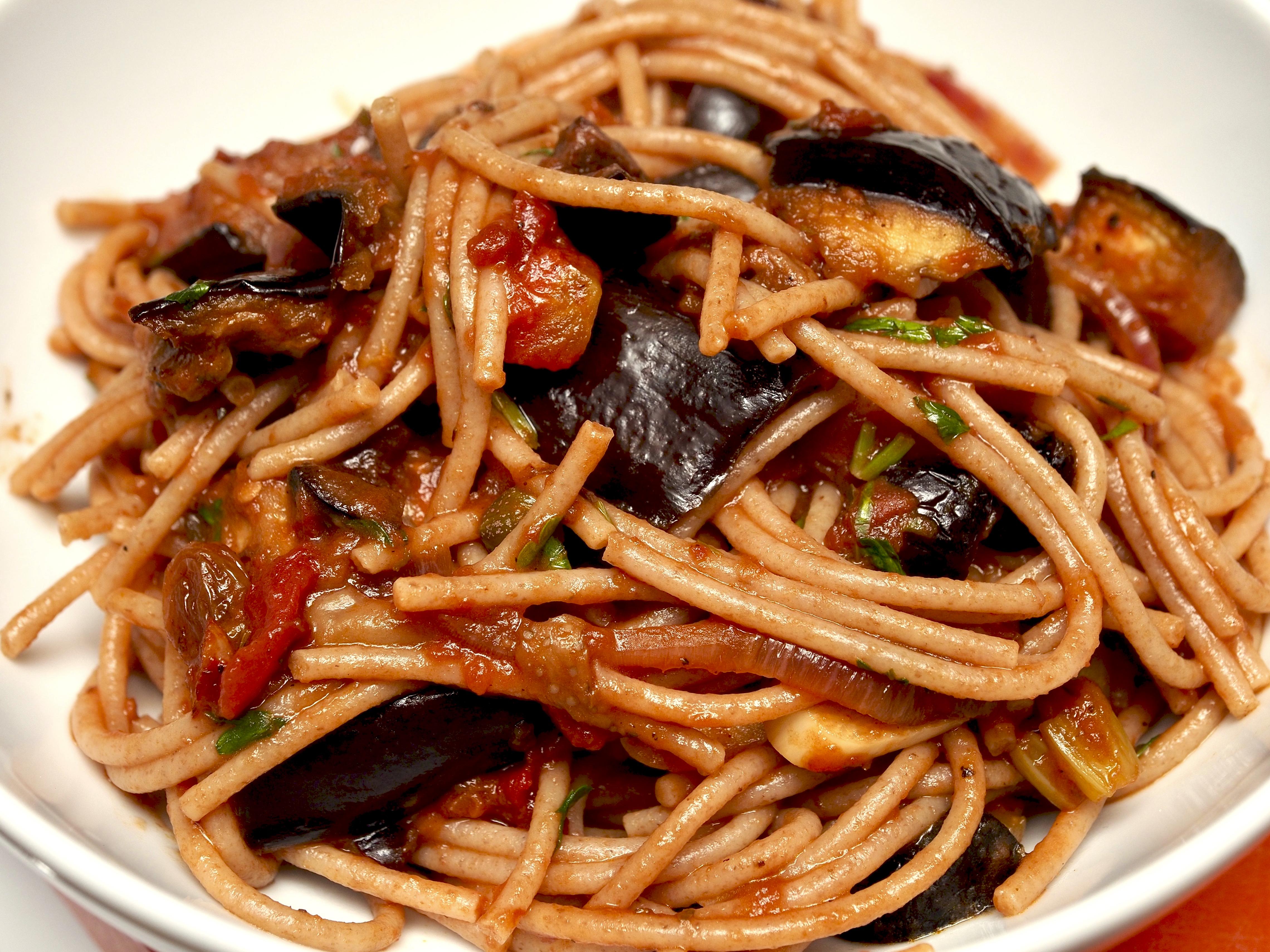 Caponata Spaghetti