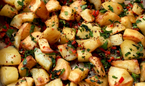 Spicy Syrian Potatoes
