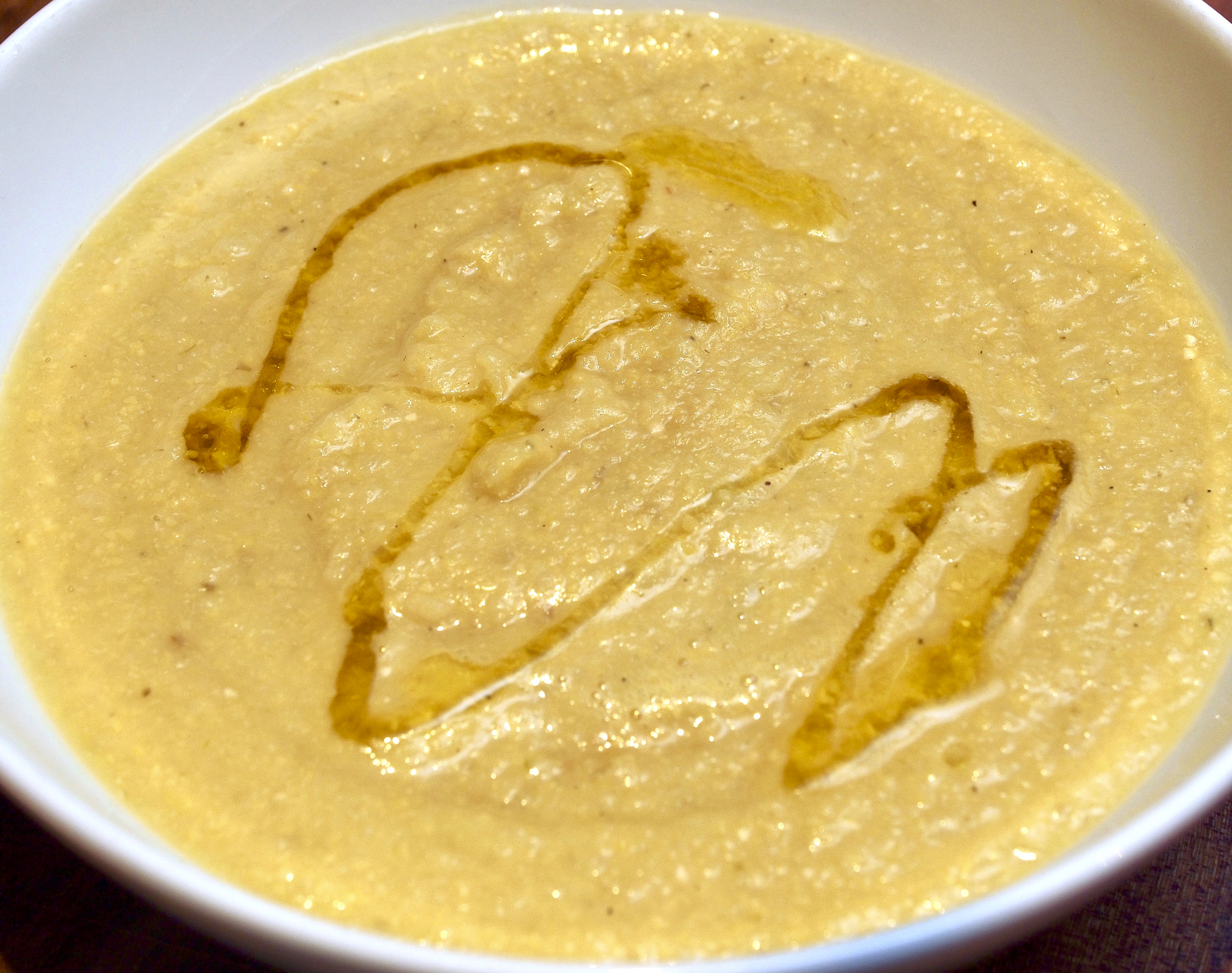 Chickpea fennel & leek soup