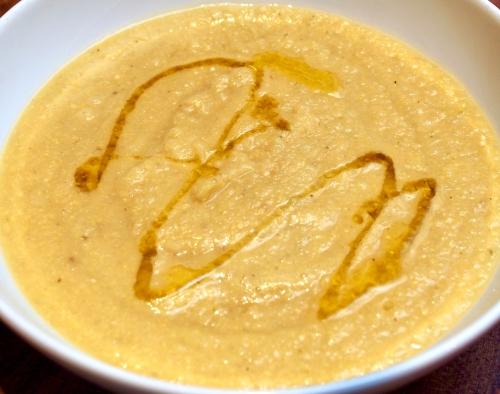 Chickpea fennel & leek soup