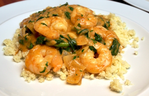 Prawn Korma with coco cauli rice