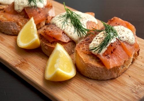 Smoked Salmon, Horseradish & Dill Crostini