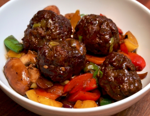 Chinese Meatball Stir-fry