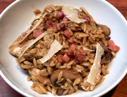 Roast Chicken, Pancetta & Mushroom Orzo