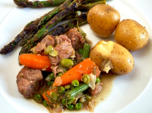 Braised Lamb with Spring Vegetables