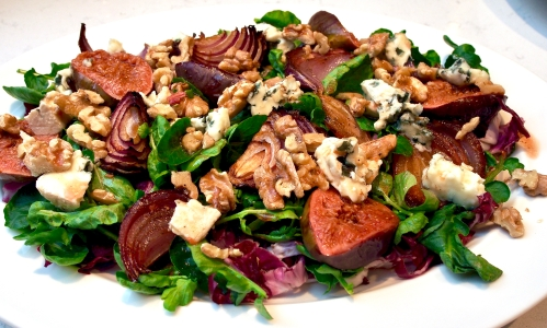 Fig, Blue Cheese & Walnut Salad
