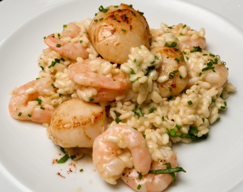Scallop & prawn risotto