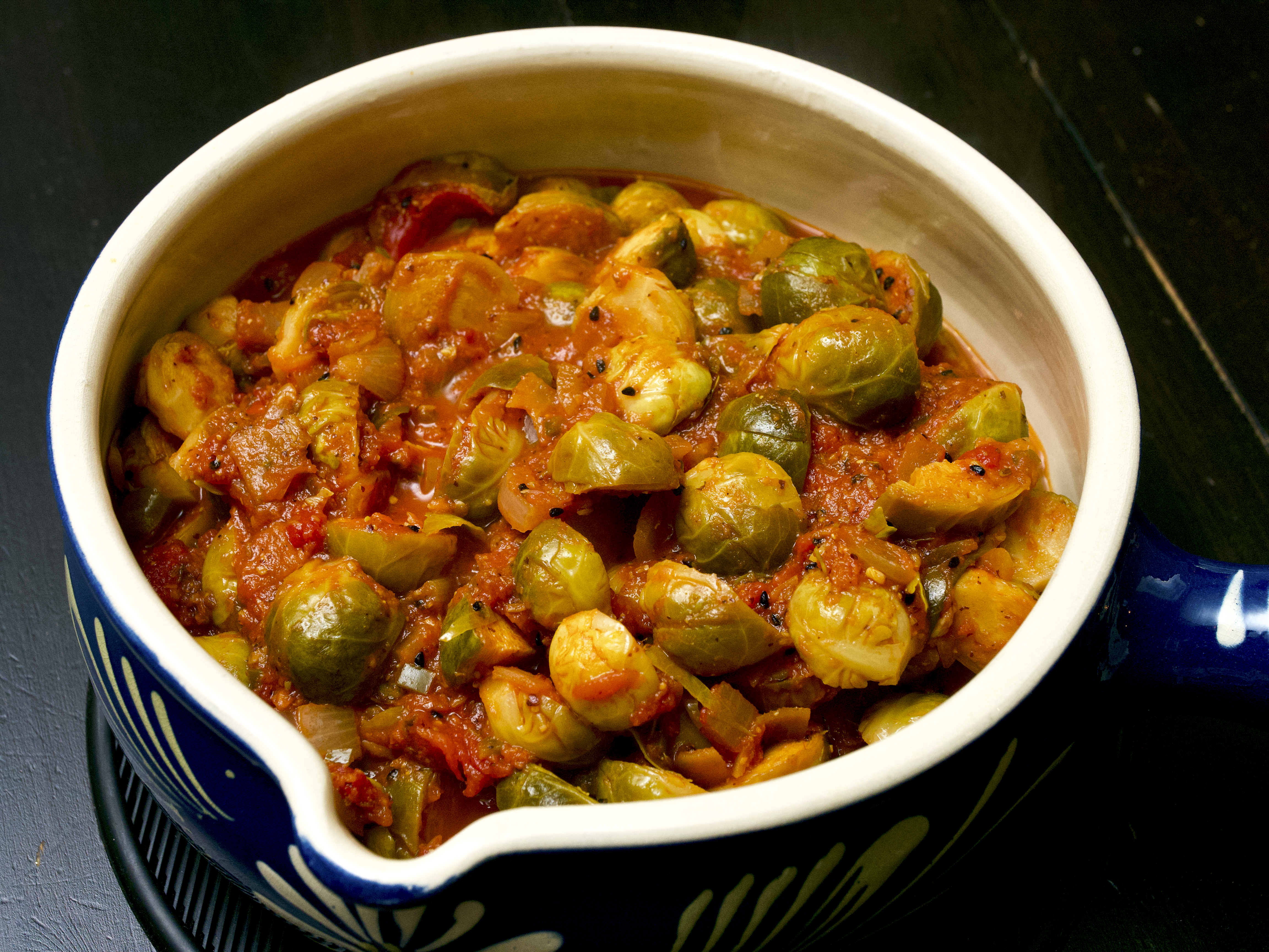 Vegan Achari Brussels Sprout Curry