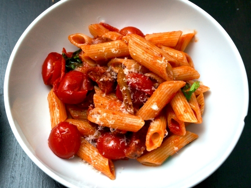 Chorizo & Chilli Pepper Pasta