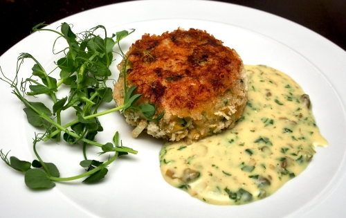 Fishcakes with Tartare Velouté