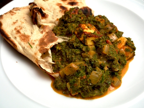 Paneer, Tomato and Kale Saag