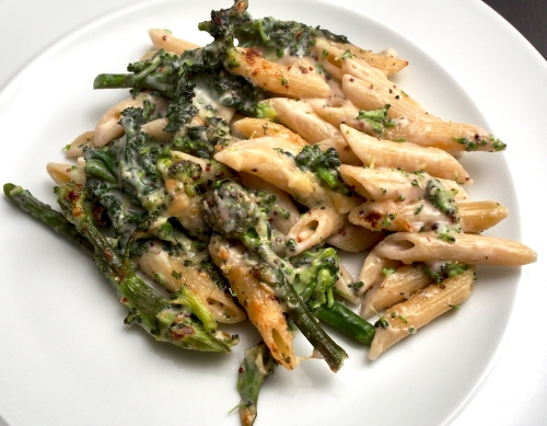 Purple Sprouting Broccoli Pasta Bake