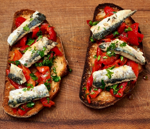 Sardines & Peppers on Toast