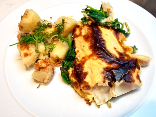 Smoked Haddock & Hollandaise Bake with Dill & Caper Fried Potatoes