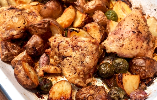 Chicken & new potato traybake