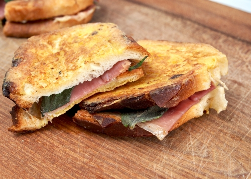 Fontina, Prosciutto & Sage French Toasts