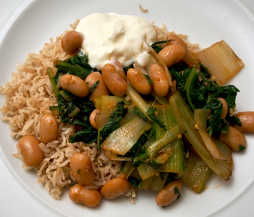 Smoky Butter Beans & Greens