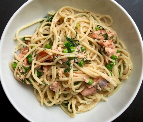 Hot Smoked Trout & Dill Spaghetti