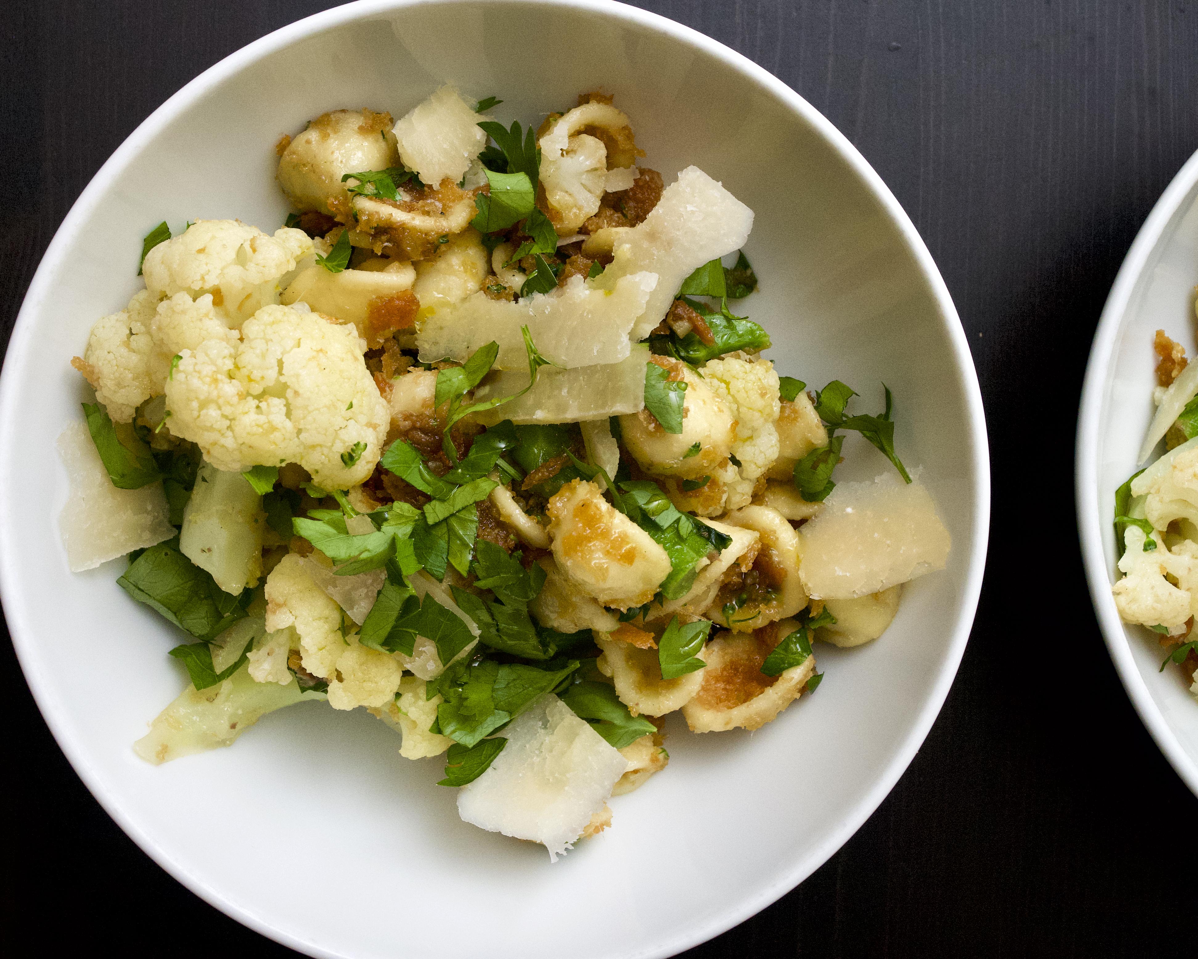 Orecchiette with Broccoli, Cauliflower & Pecorino