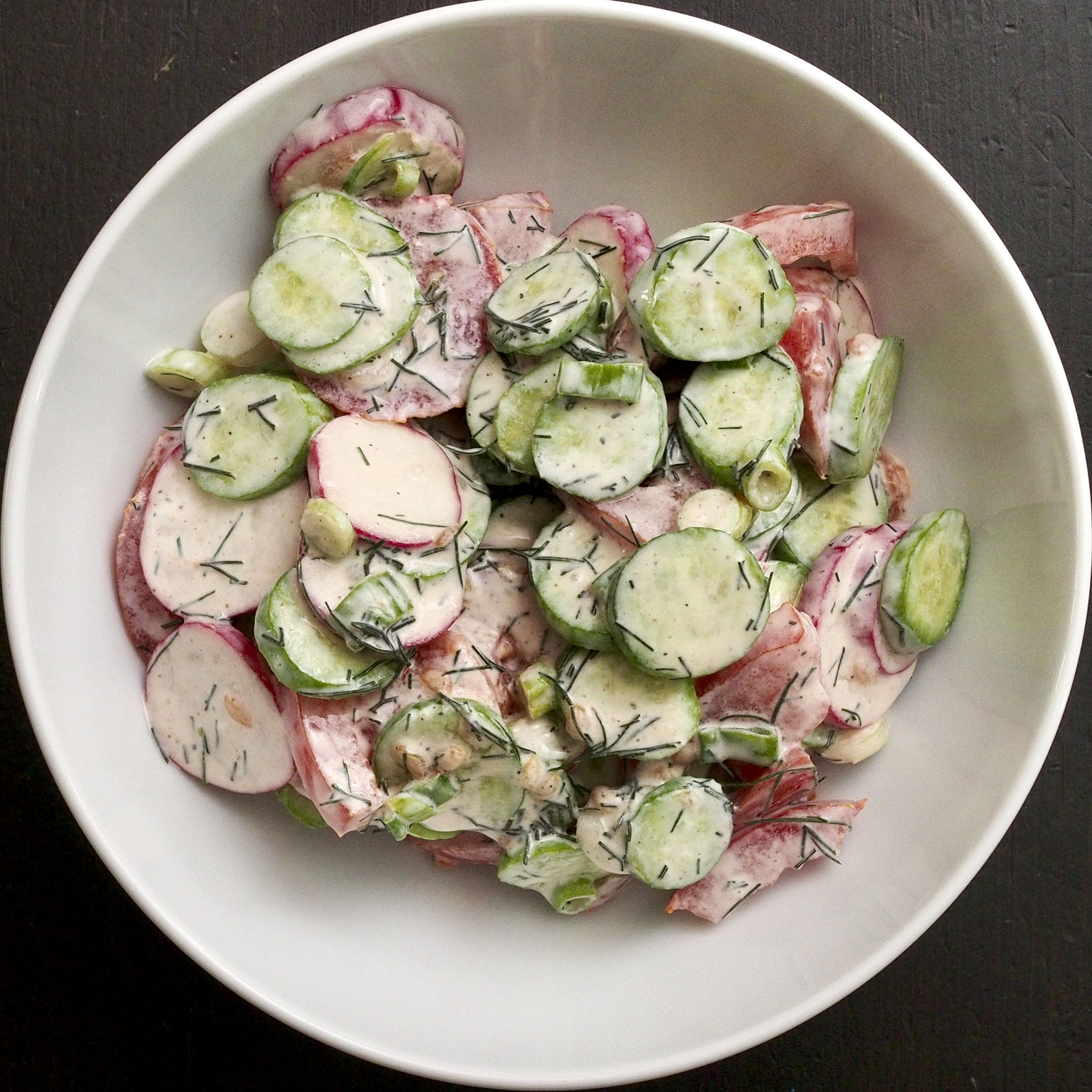 Spring Radish & Tomato Salad
