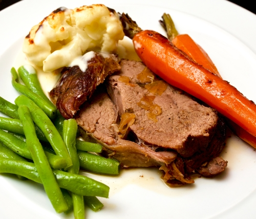 Pot-roast Veal with Carrots and Orange