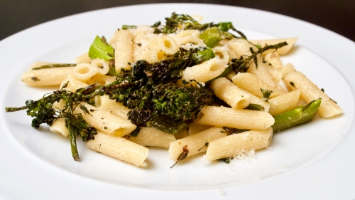 Roast long-stemmed Broccoli & Lemon Pasta