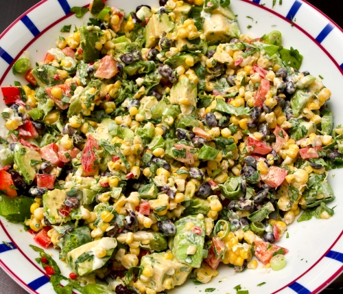 Sweetcorn, Black Bean & Avocado Salad